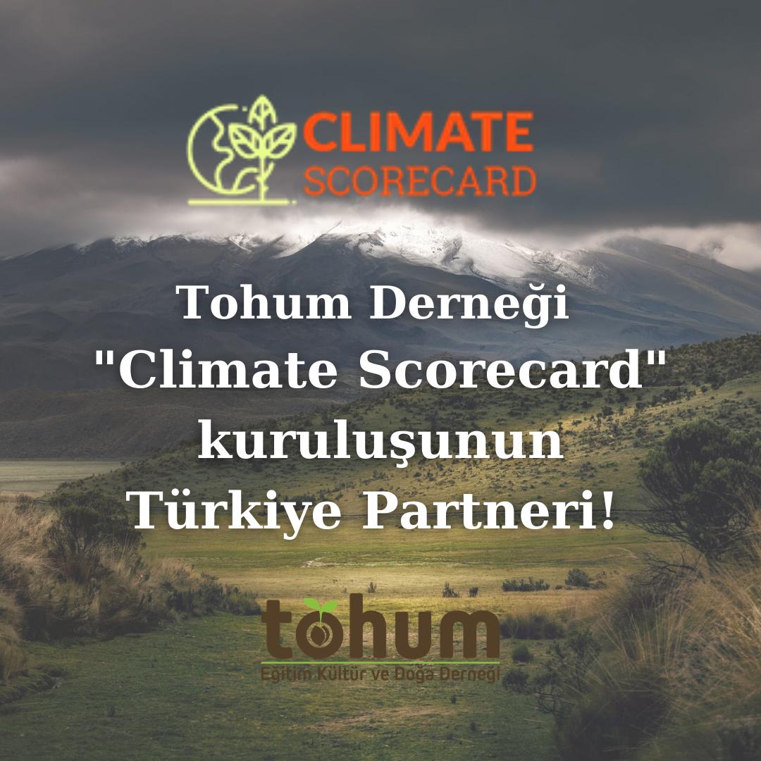 Tohum Derneği Climate Scorecard Türkiye partneri oldu!